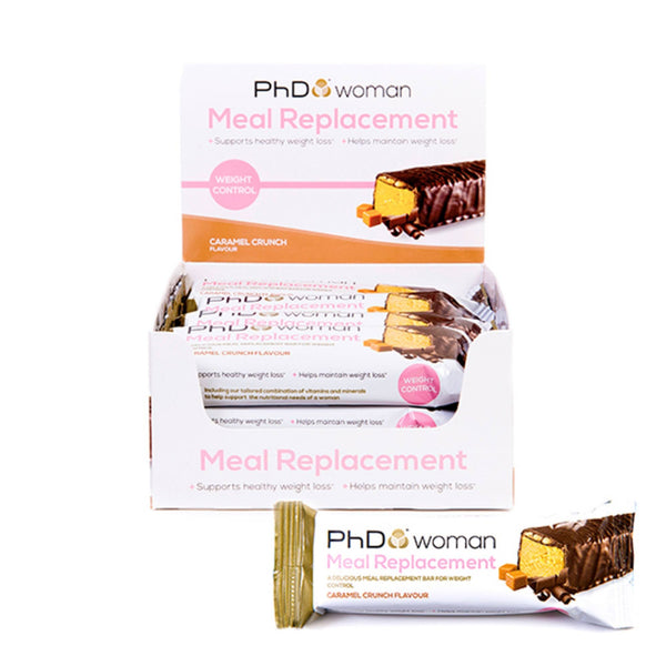 PhD Woman Meal Replacement Bars 12 x 60g Bars / Caramel Crunch Meal Replacement  www.nutri4u.co.uk - 1