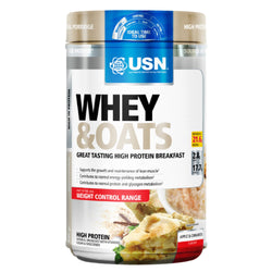 USN Whey & Oats 800g / Apple Cinnamon Meal Replacement  www.nutri4u.co.uk