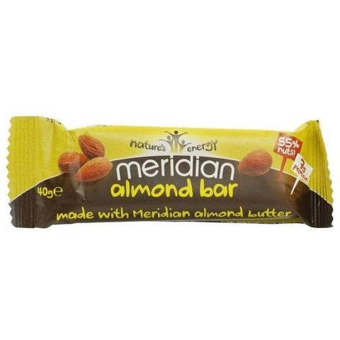 Meridian Almond Bars 1 x 40g Bar Natural & Organic  www.nutri4u.co.uk - 2