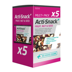 Acti-Snack Fruit, Nut & Seed 5 x 35g Natural & Organic  www.nutri4u.co.uk - 1