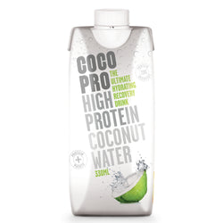 CocoPro High Protein Coconut Water Single 330ml Carton / Original Natural & Organic  www.nutri4u.co.uk - 1