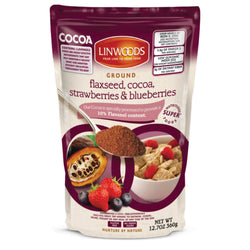 Linwoods Milled Flaxseed Cocoa & Berries 1 x 360g / Cocoa Strawberries & Blueberries Natural & Organic  www.nutri4u.co.uk - 1