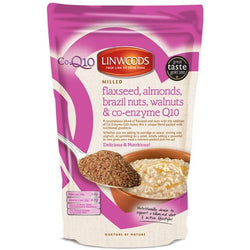 Linwoods Milled Flaxseed Almonds Brazil Nuts Walnuts & Co-Enzyme Q10 1 x 200g Natural & Organic  www.nutri4u.co.uk - 1