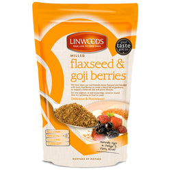 Linwoods Milled Organic Flaxseed & Goji Berries 1 x 200g Natural & Organic  www.nutri4u.co.uk - 1