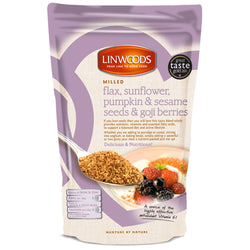 Linwoods Milled Organic Flaxseed Sunflower, Pumpkin & Sesame Seeds & Goji Berrie 1 x 200g Natural & Organic  www.nutri4u.co.uk - 1