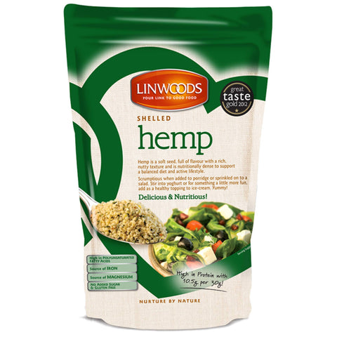 Linwoods Shelled Hemp 1 x 225g Natural & Organic  www.nutri4u.co.uk - 1