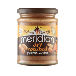 Meridian Dry Roasted Peanut Butter 1 x 280g / Smooth Peanut Natural & Organic  www.nutri4u.co.uk