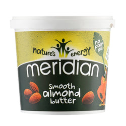 Meridian Natural Nut Butter 1kg / Natural Almond Butter Smooth Natural & Organic  www.nutri4u.co.uk - 1