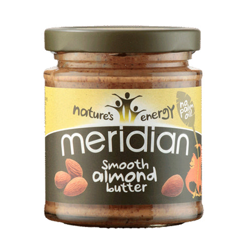 Meridian Natural Nut Butter 170g / Natural Almond Butter Crunchy Natural & Organic  www.nutri4u.co.uk - 3