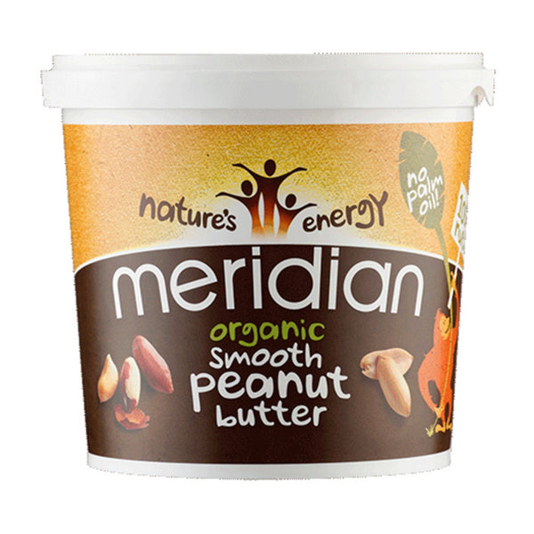 Meridian Organic Nut Butter 1kg / Peanut Smooth Natural & Organic  www.nutri4u.co.uk - 1
