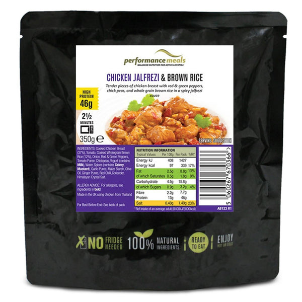 Natural Performance Meals Chicken Jalfrezi & Brown Rice 1 x 350g Pouch / Chicken Jalfrezi & Brown Rice Natural & Organic  www.nutri4u.co.uk - 1