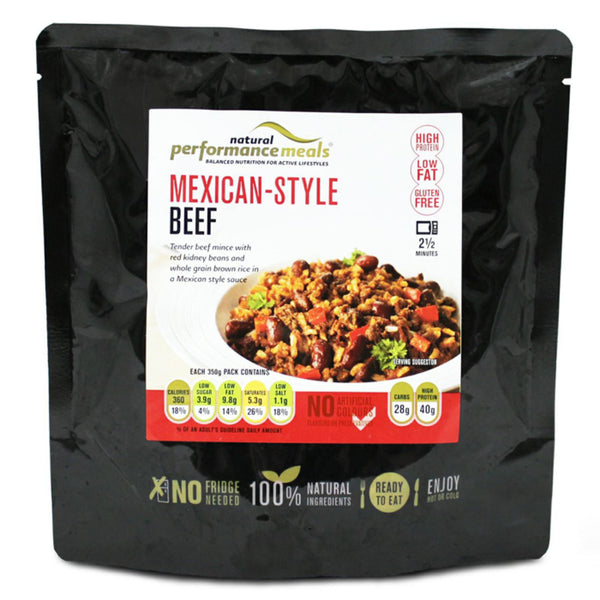 Natural Performance Meals Mexican Beef & Brown Rice 1 x 350g Pouch / Mexican Beef & Brown Rice Natural & Organic  www.nutri4u.co.uk - 1
