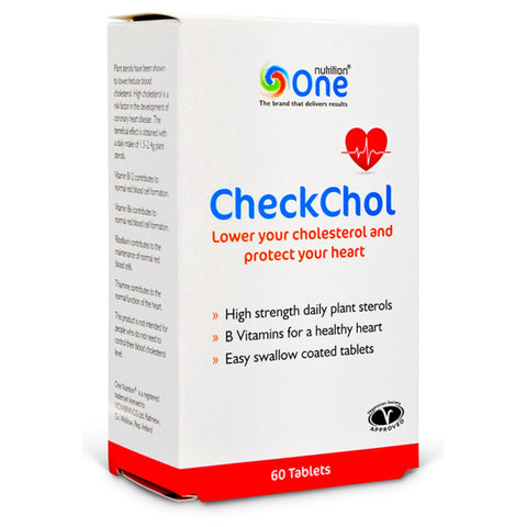 One Nutrition CheckChol 60 Tablets (30 Servings) Natural & Organic  www.nutri4u.co.uk