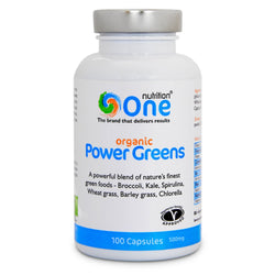 One Nutrition Organic Power Greens Capsules 100 Caps (33 Servings) Natural & Organic  www.nutri4u.co.uk - 1