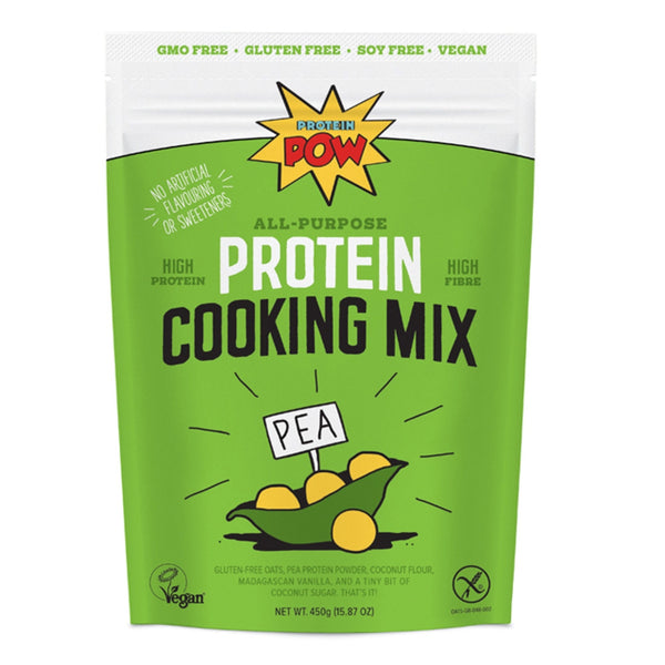 Protein Pow All Purpose Pea Protein Cook Mix 450g / Unsweetened Vanilla Natural & Organic  www.nutri4u.co.uk - 1