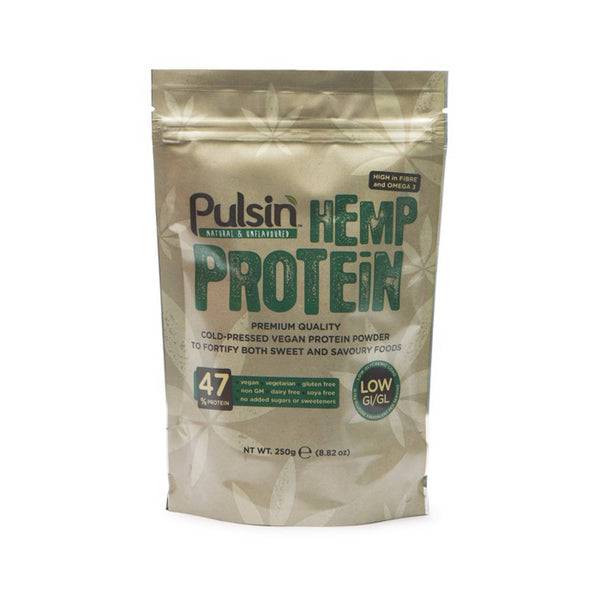 Pulsin Hemp Protein Powder 250g Natural & Organic  www.nutri4u.co.uk
