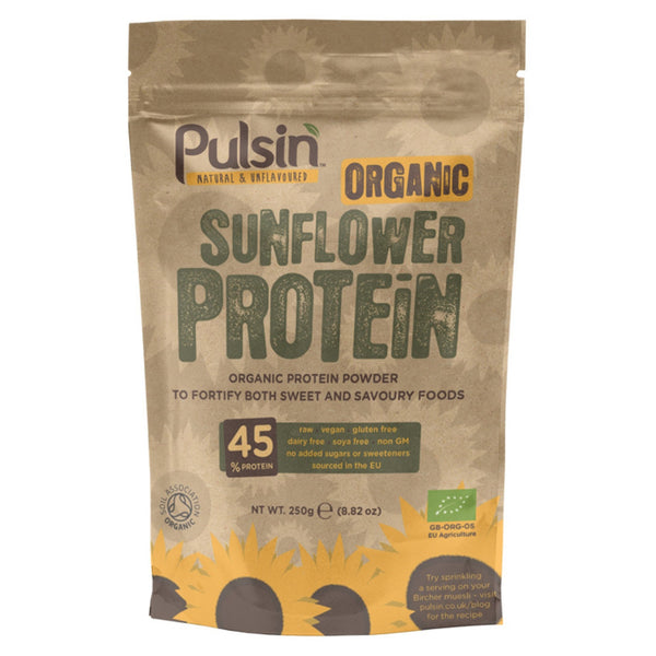 Pulsin Organic Sunflower Protein Powder 250g / Unflavoured Natural & Organic  www.nutri4u.co.uk