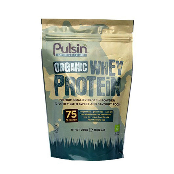 Pulsin Organic Whey Protein Powder 250g / Unflavoured Natural & Organic  www.nutri4u.co.uk