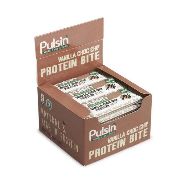 Pulsin Protein Bite Bars 18 x 25g Bars / Orange Choc Chip Natural & Organic  www.nutri4u.co.uk - 1