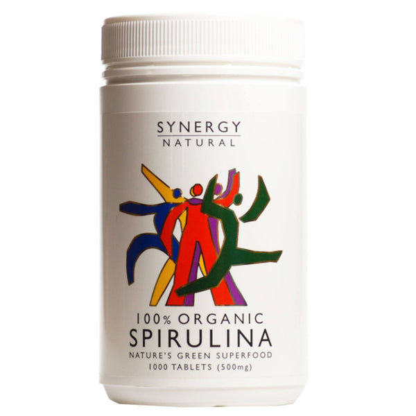 Synergy Natural Organic Spirulina Tablets 1000 Tablets Natural & Organic  www.nutri4u.co.uk - 1