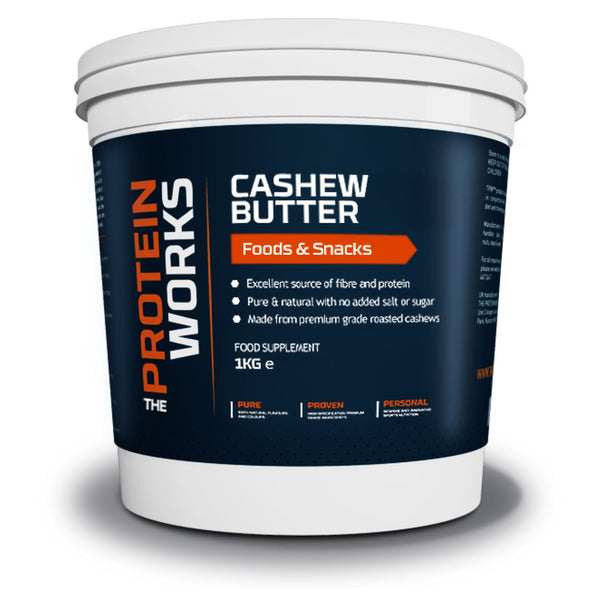 The Protein Works Cashew Butter 1kg Natural & Organic  www.nutri4u.co.uk