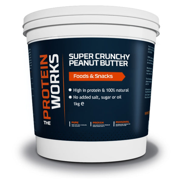The Protein Works Peanut Butter 1kg / Crunchy Natural & Organic  www.nutri4u.co.uk - 1