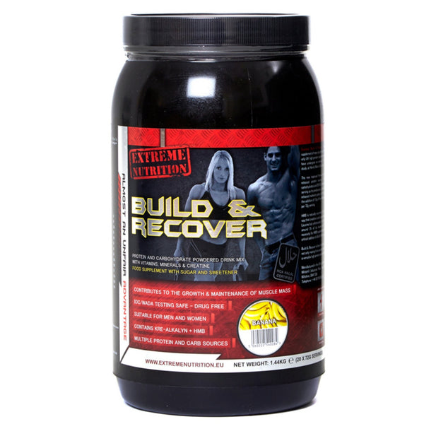 Extreme Nutrition Build & Recover 1.4kg / Banana Post Workout  www.nutri4u.co.uk - 1