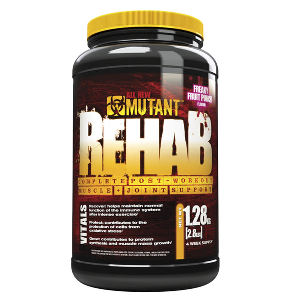 Mutant Rehab 1.2kg (16 Servings) / Fruit Punch Post Workout  www.nutri4u.co.uk