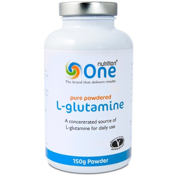 One Nutrition L'Glutamine 150g (25 Servings) Post Workout  www.nutri4u.co.uk