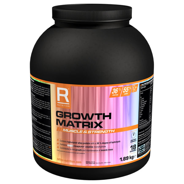 Reflex Nutrition Growth Matrix 1.8kg / Rich Chocolate Post Workout  www.nutri4u.co.uk