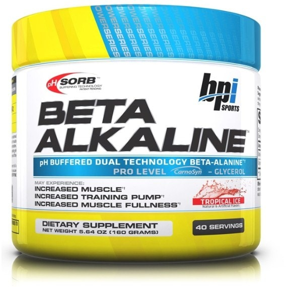 BPI Sports Beta Alkaline 120g (40 Servings) / Tropical Ice Pre-Workout  www.nutri4u.co.uk