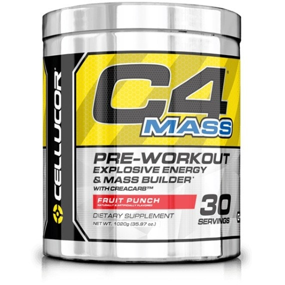 Cellucor C4 Mass 30 Servings / Fruit Punch Pre-Workout  www.nutri4u.co.uk