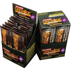 Grenade .50 Calibre Preloaded 25 x 23.2g Sachets / Berry Blast Pre-Workout  www.nutri4u.co.uk