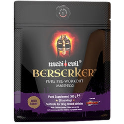 Medi-Evil Berserker 300g (50 Servings) / Blood Orange Pre-Workout  www.nutri4u.co.uk