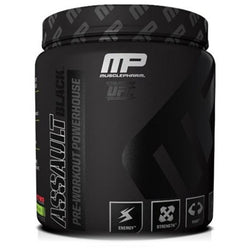 MusclePharm Assault Black 384g (30 Servings) / Fruit Punch Pre-Workout  www.nutri4u.co.uk