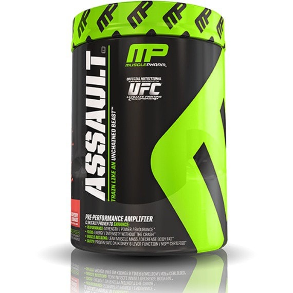 MusclePharm Assault 435g (30 Servings) / Raspberry Lemonade Pre-Workout  www.nutri4u.co.uk