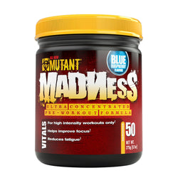 Mutant Madness 275g (50 Servings) / Blue Raspberry Pre-Workout  www.nutri4u.co.uk