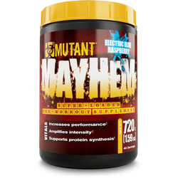 Mutant Mayhem 720g (40 Servings) / Blue Raspberry Pre-Workout  www.nutri4u.co.uk - 1