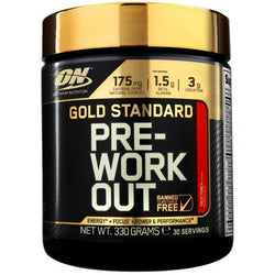 Optimum Nutrition Gold Standard Pre-Workout 330g (30 Servings) / Fruit Punch Pre-Workout  www.nutri4u.co.uk