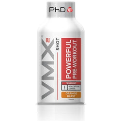 PhD Nutrition VMX2 Shots 12 x 60ml / Orange Blast Pre-Workout  www.nutri4u.co.uk
