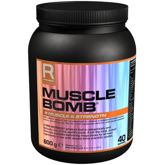 Reflex Nutrition Muscle Bomb 600g (40 Servings) / Black Cherry Pre-Workout  www.nutri4u.co.uk