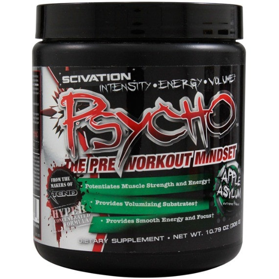 Scivation Psycho 306g (60 Servings) / Fruit Punch Pre-Workout  www.nutri4u.co.uk