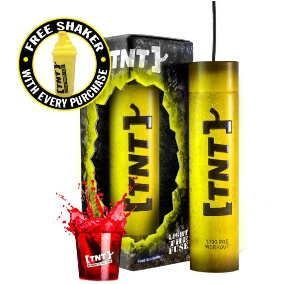 TNT Supplements Light The Fuse 170g \920 Servings) / Blue Raspberry Pre-Workout  www.nutri4u.co.uk