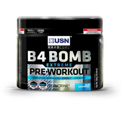 USN B4 Bomb Extreme 250g / Blue Raspberry Pre-Workout  www.nutri4u.co.uk