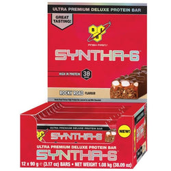 BSN Syntha-6 Bar 12 x 90g / Chocolate Brownie Protein  www.nutri4u.co.uk - 1