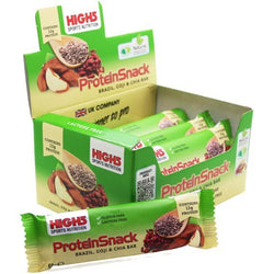 High5 ProteinSnack Bar 12 x 60g Bars / Brazil, Goji + Chia Protein  www.nutri4u.co.uk