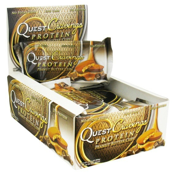 Quest Nutrition Quest Cravings 12 x 50g / Peanut Butter Cups Protein  www.nutri4u.co.uk