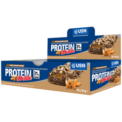 USN Protein Delite 18 x 50g Bars / Toffee Almond Protein  www.nutri4u.co.uk - 1