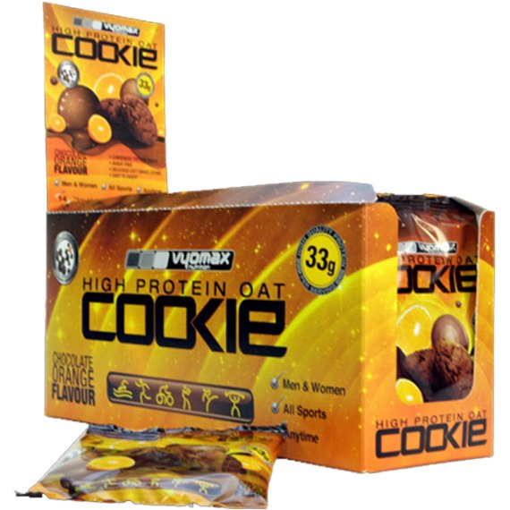 Vyomax Nutrition Protein Oat Cookies 14 x 75g Cookies / Choc Mint Protein  www.nutri4u.co.uk
