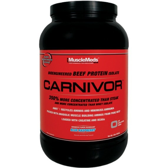 MuscleMeds Carnivor 908g (28 Servings) / Blue Raspberry Protein  www.nutri4u.co.uk - 1